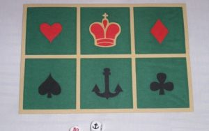 Crown and anchor playing mat