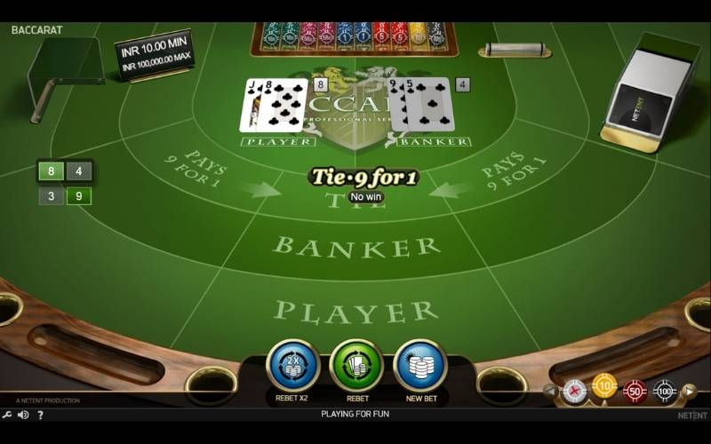 play online baccarat in india